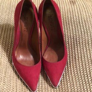 SCHUTZ Red high heels